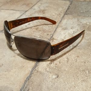 Prada Sunglasses Authentic Brown Shield